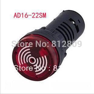 AD16-22SM indicador de la lámpara de la señal de la luz zumbador del Flash 12 V 24 V 220 V 380 V