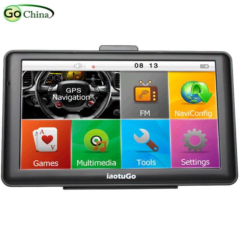 "iaotuGo 7"" Capacitive Car GPS Truck Navigator 256M 8G Bluetooth AVIN FM HD 800*480 Free Updated  Newest Maps"