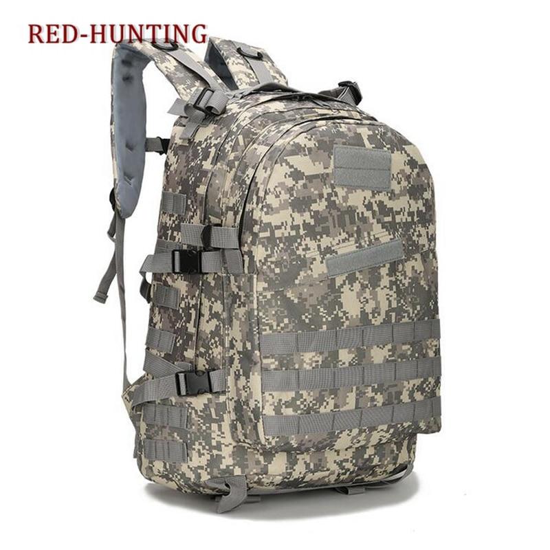 3D exterior 40L hombres impermeable Oxford tela militar mochila táctica mochila ACU camuflaje deportes viajes senderismo bolsa
