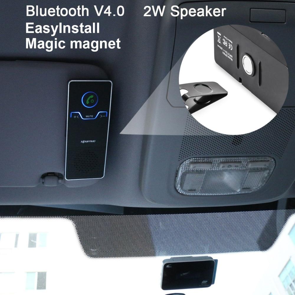 Siparnuo громкая связь громкой связи Bluetooth Car Kit козырек от солнца автомобиля Bluetooth громкой с автомобиля Зарядное устройство автомобиля Bluetooth Hands-free Комплект V4.1