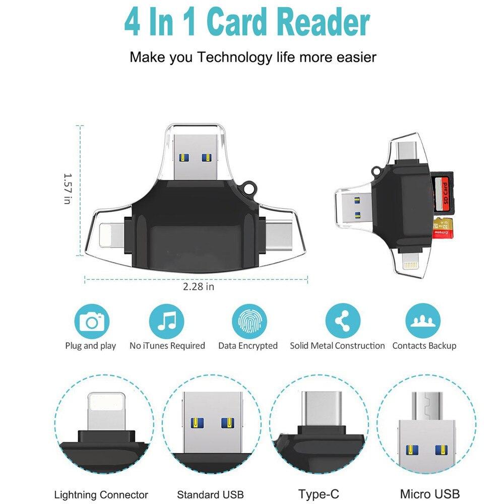 Type C USB C Micro SD Card Reader OTG MMC Flash Memory Card Reader For iPhone iPad MacBook Android Micro USB Reader