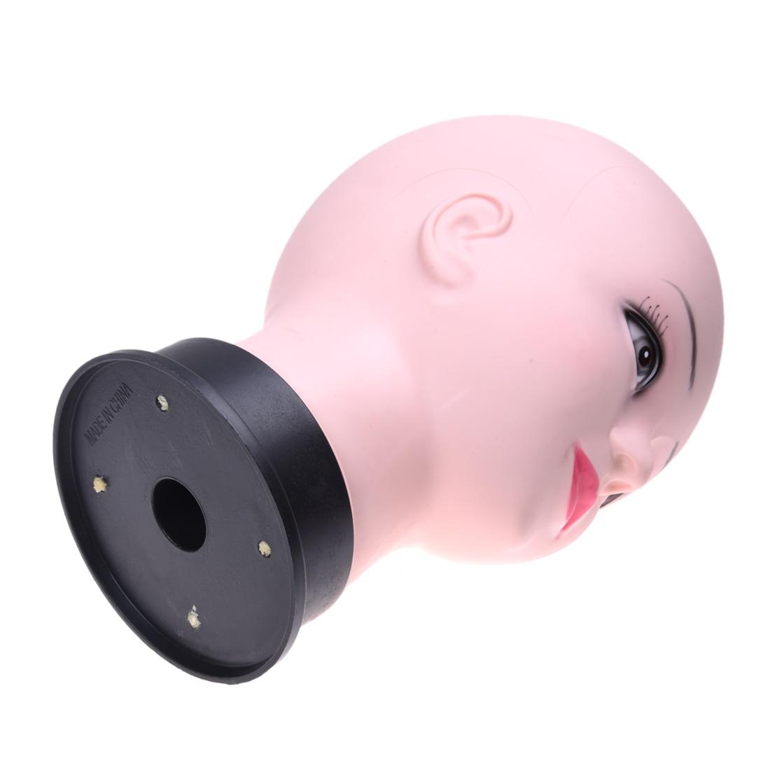 Cabeza de maniquí calva de cosmetología caliente
