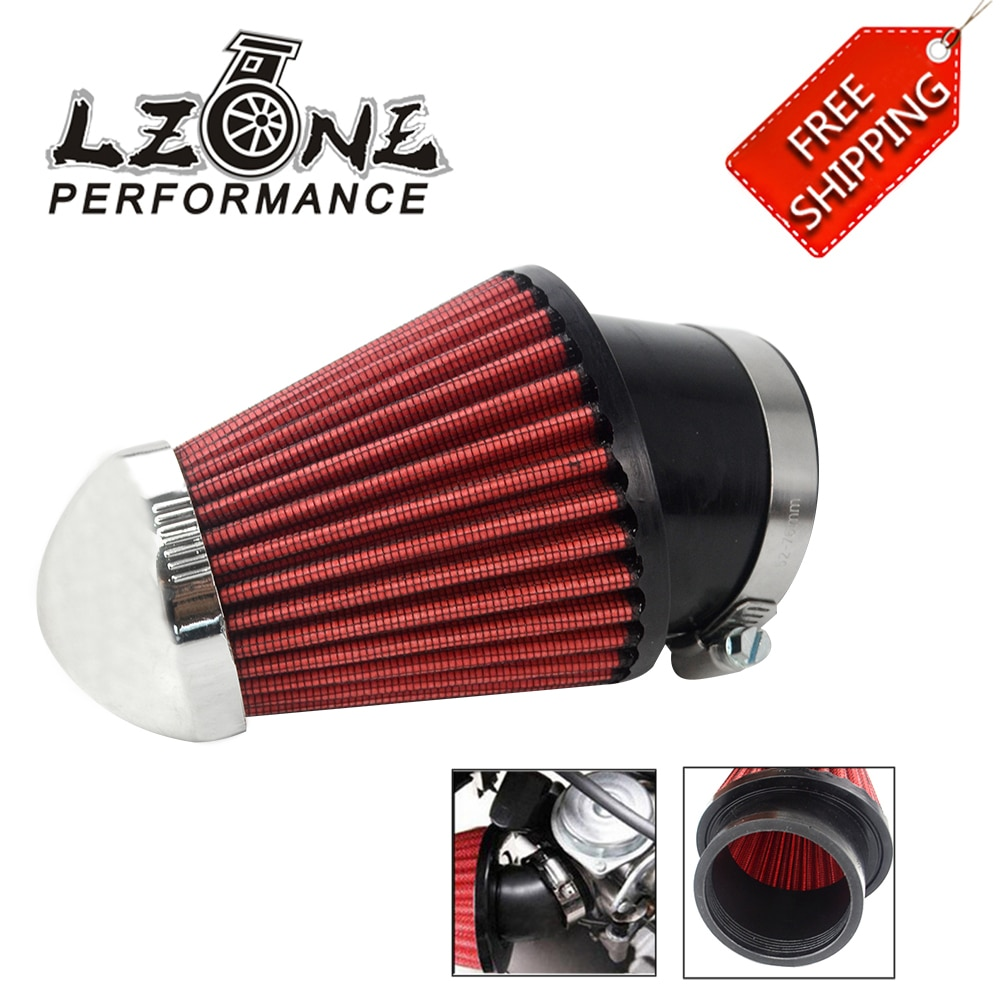 Envío Gratis-profesional de motocicletas 62mm rojo cabeza de hongo de filtro de entrada de aire limpiador JR-AIT23