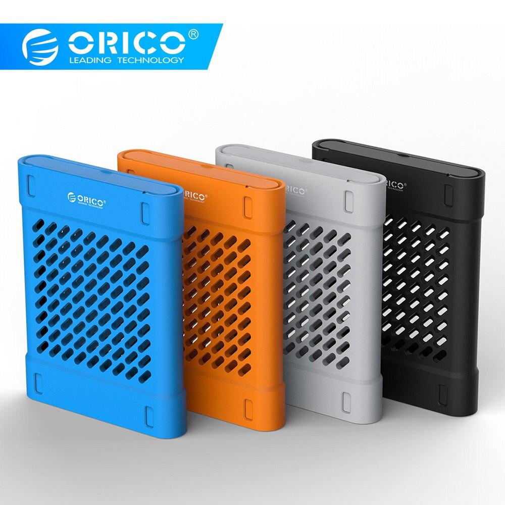 Силиконовый защитный чехол ORICO для жесткого диска 2,5 дюйма, чехол для хранения Hdd, черный/синий/серый/желтый, PHS-25