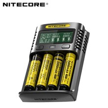 Nitecore UM4 USB quatre fentes QC C4 VC4 LCD chargeur intelligent IMR INR ICR li-ion AA 18650 14500 16340 26650 chargeur 3.7 1.2 V 1.5 V