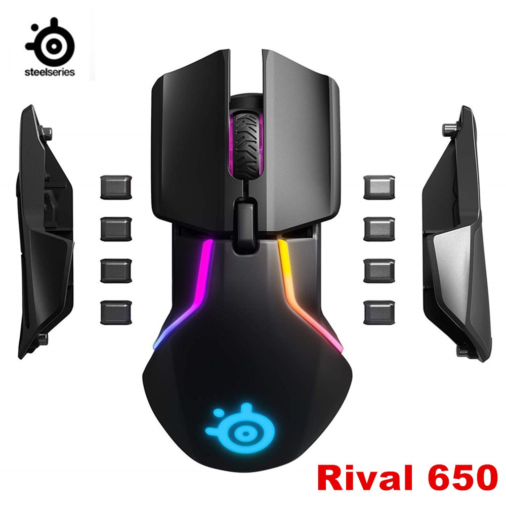 Marca nueva SteelSeries Rival 650, ratón inalámbrico para videojuegos, Sensor dualen optischen, elevador einstellbarer, off, Distanz, abstimmbaren
