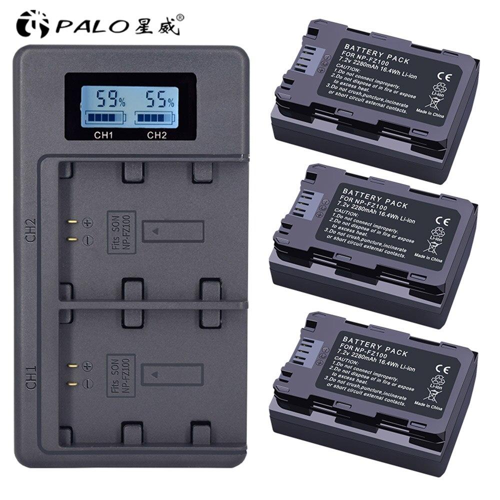 NP-FZ100 NPFZ100 NP FZ100 Батарея + ЖК-дисплей Dual USB Зарядное устройство для sony NP-FZ100, BC-QZ1, sony a9, a7R III a7 III, ILCE-9 NP FZ100
