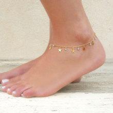 Bracelets de cheville de chaîne pendentif étoile en cristal à la mode pour les femmes Simple élégant été plage pied chaîne cheville Bracelet bijoux