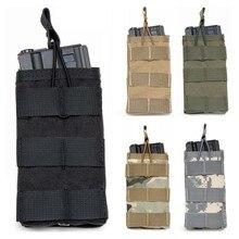 CQC Molle système 1000D Nylon unique haut ouvert Airsoft tactique M4 poche de Magazine AK AR15 chasse fusil pistolet pochette