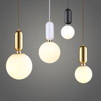 Modern luminaire Led Pendant Lights bedside suspension Bar dining room Home Deco Hanging Lamp Nordic Drop Light Fixture Glass Ba