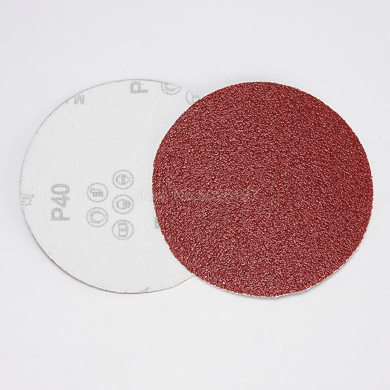 1 pz 5 pollici 125mm rotondi dischi di carta vetrata fogli di sabbia - Utensili abrasivi - Fotografia 2