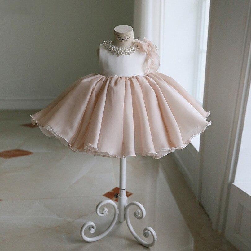 Vestido de niñas para fiesta de cumpleaños, boda, Princesa, bebé, bautizo, bautismo, vestido de baile, vestidos de niños, Perla para niñas, Verano