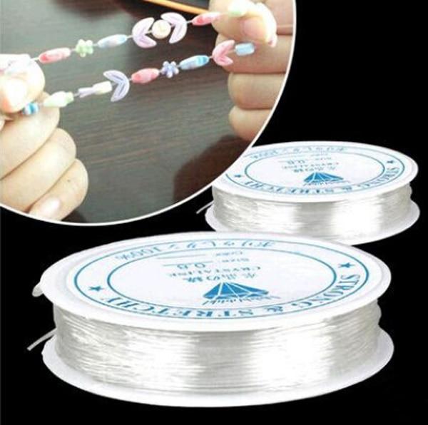 LNRRABC 1 рулон 5 м-12 м (196-471 дюйма) диаметр кристалл эластичный шнур для бисероплетения нить для DIY ожерелье браслет