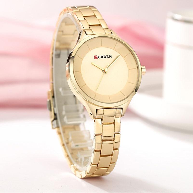 CURREN Luxury Top Brand Women Quartz Watch Fashion Ladies Girl Dress Wristwatch Bracelet For Female Clocks Gifts zegarek damski enlarge