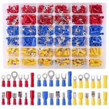 Jauge mixte de 540 pièces 22-16/16-14/12-10   Déconnexion rapide, électrique isolé embout fourchette, anneau de fourchette, sans soudure, terminaux à sertir Con