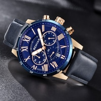 Watches Mens 2019 BENYAR Quartz Chronograph Men Watch Top Brand Luxury Leather Men Sports Watches Waterproof Relogio Masculino