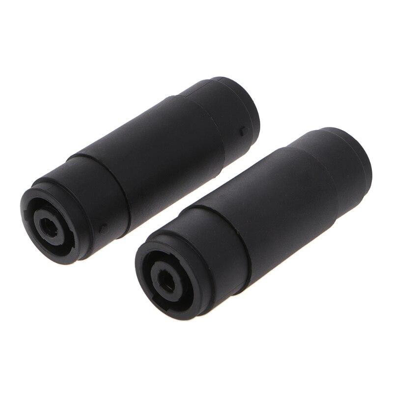 OOTDTY 2 uds 4-PIN Polo hembra a hembra Speakon acoplador adaptador conector de cable de audio