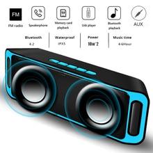 LUIK Bluetooth Speaker Draadloze Draagbare Stereo Sound Big Power 10W Systeem MP3 Muziek Audio AUX Met MICROFOON Voor Android iphone