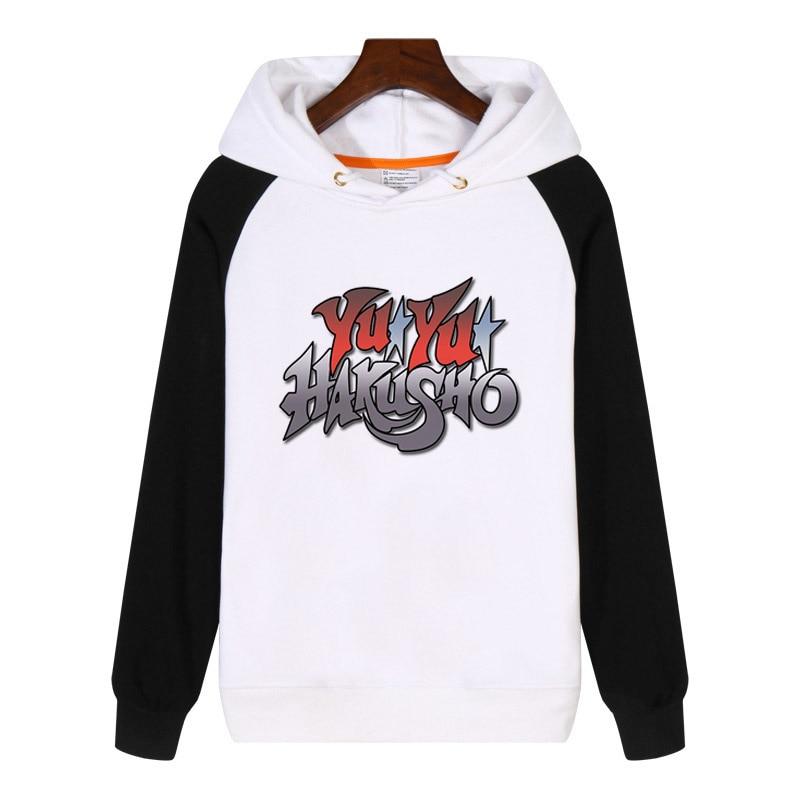 Para YuYu Hakusho letras impresas Hoodies hombres mujeres sudaderas invierno Streetwear Hip hop Hoody chándal ropa deportiva GA618
