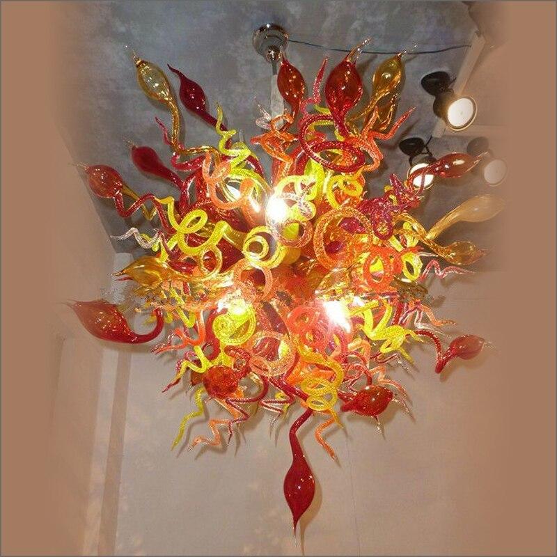 Proveedor de China, colgante de cristal de Murano lámparas hecho a medida para el vestíbulo del Hotel Decoración