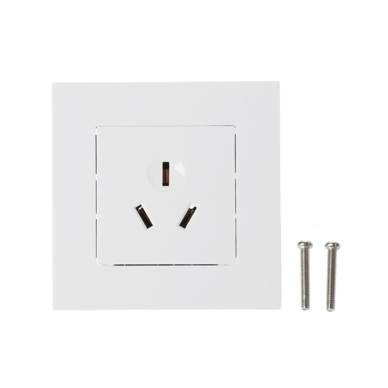 Toma de corriente 86 tipo 16A con Panel de PC blanco de 3 agujeros para aire acondicionado Heater-831F de agua