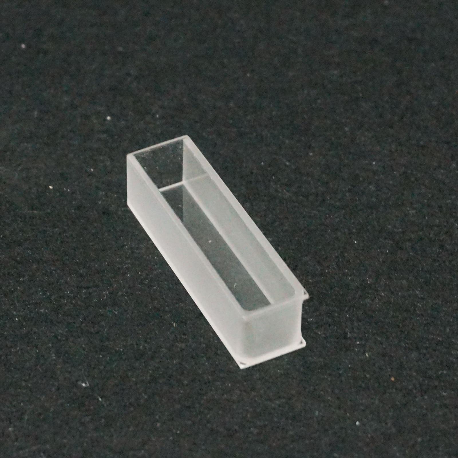 Cubeta celular de vidrio óptico de 10mm para Espectrofotómetro UV