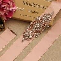 missrdress pearls wedding belt sash rhinestones bridal belt rose gold crystal bridal dress sash for wedding decoration jk842