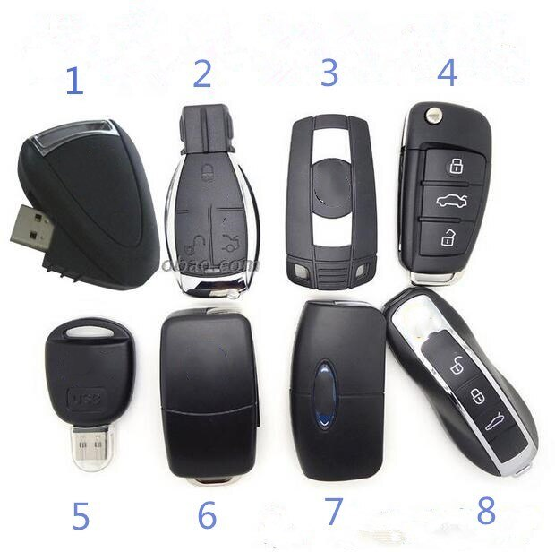 Eight styles Car Key usb 3.0 flash drive pen drive 64GB 128GB 256GB usb flash drive memory stick pen drive usb flash card disk