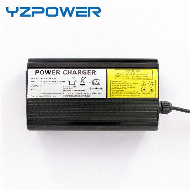 YZPOWER 43,2 V 8A 7A 6A Lifepo4 литиевая батарея зарядное устройство для 36V Li-Ion Lipo аккумулятор Электрический велосипед Ebike Алюминиевый Чехол