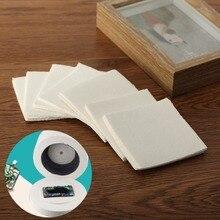 Verre à micro-ondes Fiber céramique carrée   80*80*1mm, verre de four à micro-ondes, papier de coupe, 50 feuilles