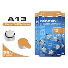1.45V Original haute performance pour les Batteries daide auditive 305mAh batterie A13 13A ZA13 PR48 taille 13 36 pièces livraison gratuite!!!