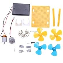 Electric Generator Motor Energy Wind Turbine Power Mini Kids LED Education DC AC -B119