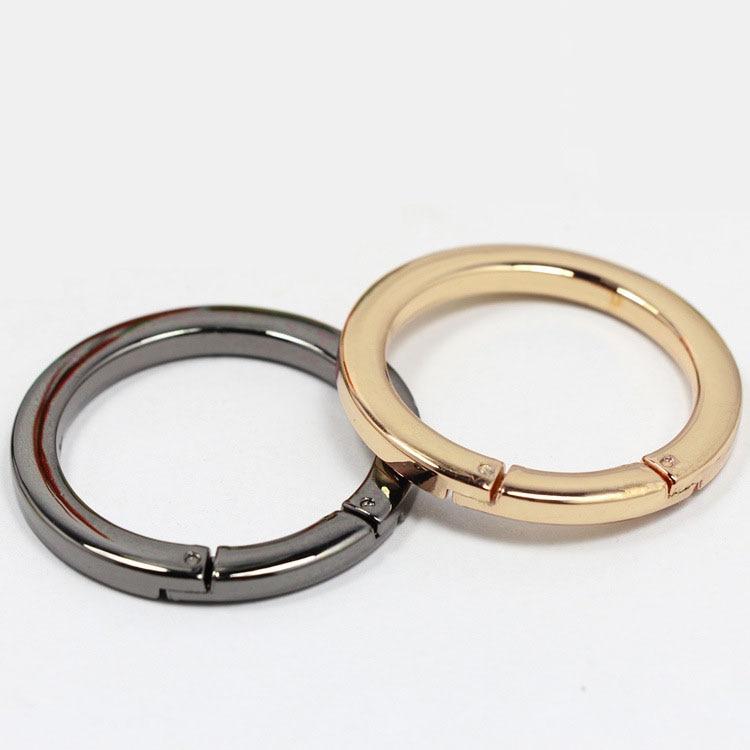 4 Uds. Mosquetón redondo de fijación de tornillo O anillo de luz Rosa Oro Negro Flatback bolsa hebilla el cinturón organizador DIY accesorio 24/36mm