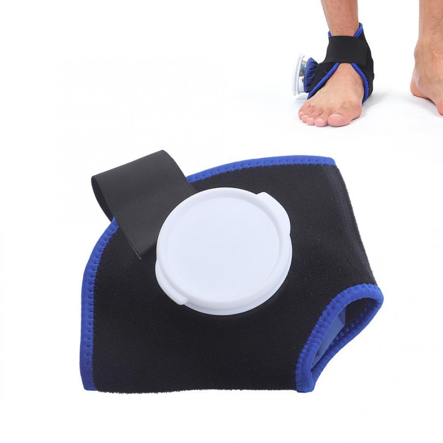 Terapia hielo/compresa caliente Paquete de tela tobillo Brace Kit fisioterapia azul 6 pulgadas bolsa de hielo soportes