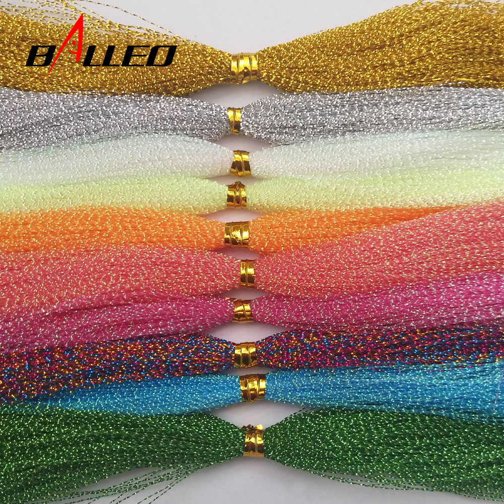5Packs/ Fishing Tying Crystal Twisted Flashabou Holographic Tinsel Fly Flash for Jig Hook Lure Makin