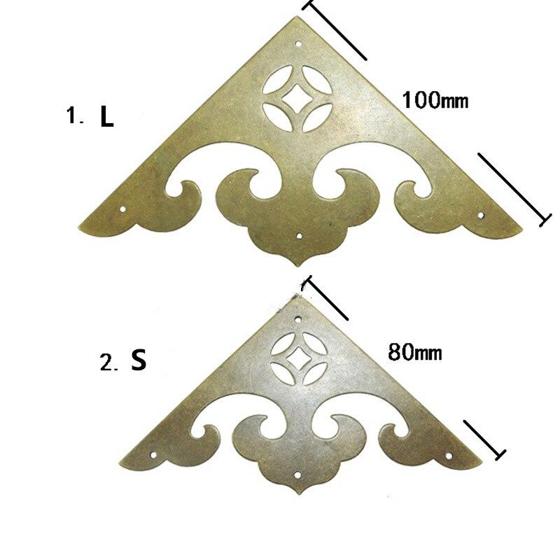 الجملة مثلث النحاس Coner كابوشون ، الصينية القديمة خمر غطاء ، فلاتباك الزينة سكرابوكينغ ، النبيذ صندوق خشبي ديكور