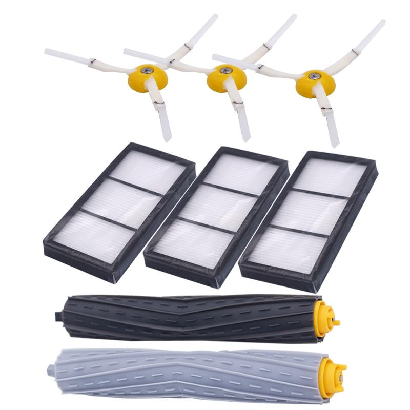 1 set von müll sammlung extractor pinsel + 3 hepa-filter + 3 seite pinsel für IROBOT Roomba 800 900 serie kehren roboter