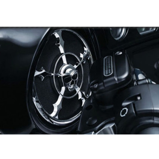 Cubierta cromada de bocina de calavera para Harley Touring Electra Glide FLHT Street Glide Tri Glide EFI FLHXI