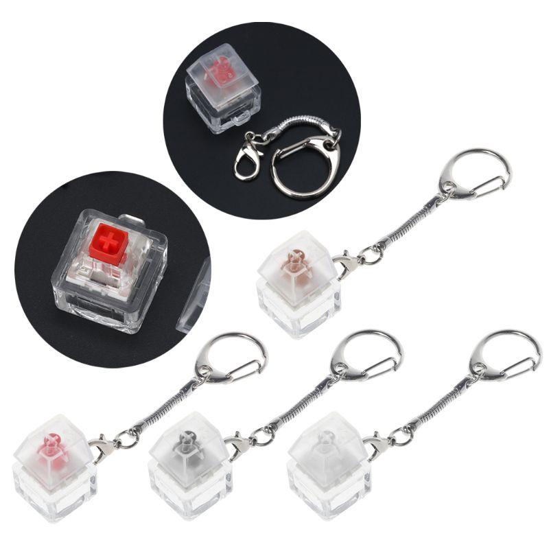 Kailh caja interruptor mecánico llavero para teclado interruptores Kit de prueba sin luz LED juguetes de estrés socorro regalos