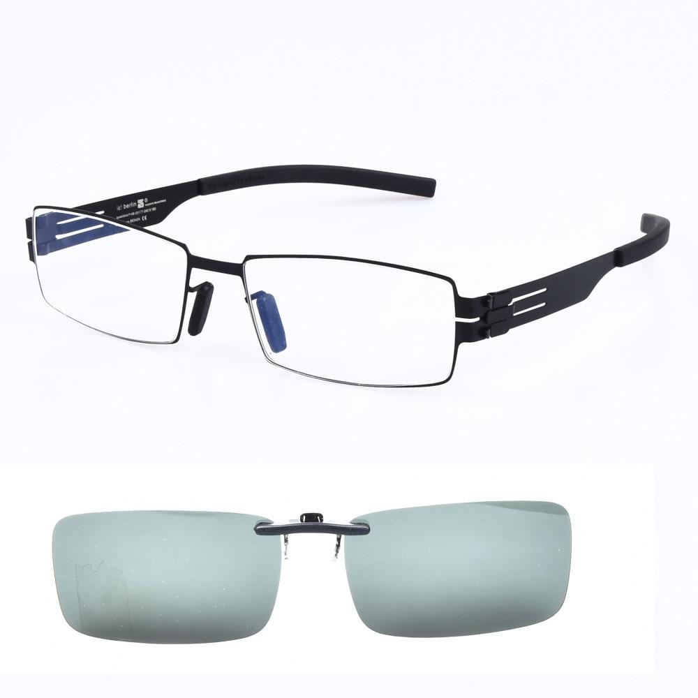 خفيفة الوزن Screwless نظارات الرجال نظارات النظارات البصرية إطار الرجال مع الاستقطاب النظارات الشمسية كليب على Oculos دي غراو