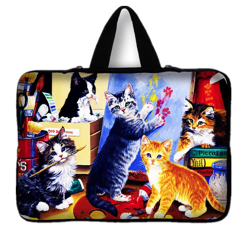 Computer Accessories Shockproof Cat Neoprene Laptop Bag Cases Notebook Sleeve 7 10 12