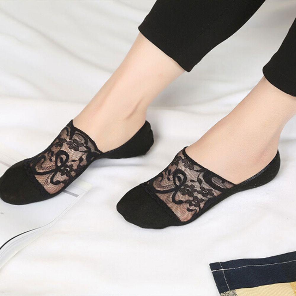 Прозрачные короткие кружевные носки, женские летние носки-башмачки с отверстиями, женские мягкие низкие невидимые носки
