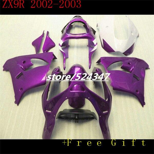 Nn-del cuerpo púrpura para KAWASAKI NINJA ZX-9R ZX9R 02-03 ZX 9R púrpura 02 03 2002 2003 ZX9 R para Ninja