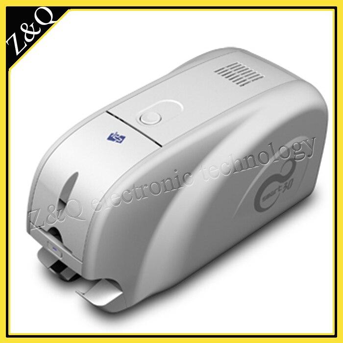 IDP Smart-30S impresora de tarjetas de identificación de un solo lado Usa cinta YMCKO 650643 o 650634