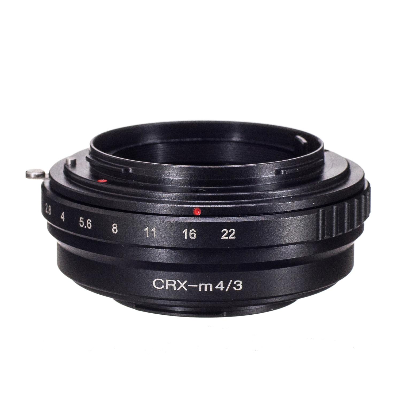 Adaptador de Lente para Micro Crx para Panasonic Anel Contarex Gh1 Gf1 Gf3 Gf5 E-p1 E-pl3 Epl5 Em5 Em1ii Em10 Câmera M43 Gh4 g1
