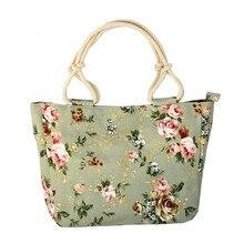 Fashion Folding Women Big Size Handbag Tote Ladies Casual Flower Printing Canvas Graffiti Shoulder Bag Beach Bolsa Feminina W497