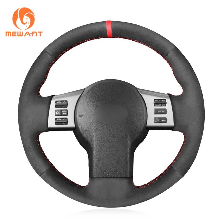 Mewant preto camurça sintética capa de volante do carro para infiniti fx fx35 fx45 2003-2008 nissan 350z 2003-2006 2007-2009