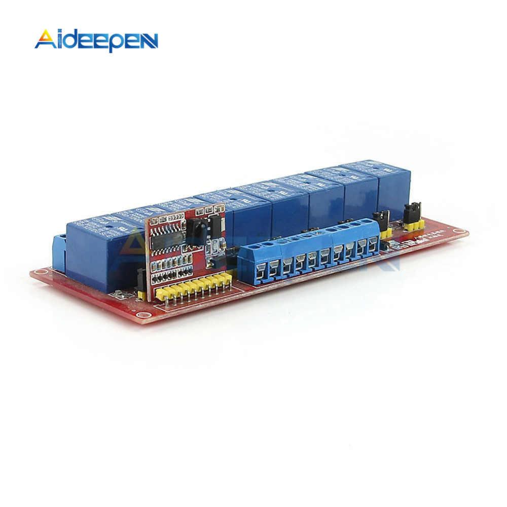 5v 8 Kanal Multi Funktion Infrarot Fernbedienung Relais Modul Dual Trigger Modul Infrarot Ir Remote Schalter 8ch Fahren Bord Instrumententeile Zubehör Aliexpress