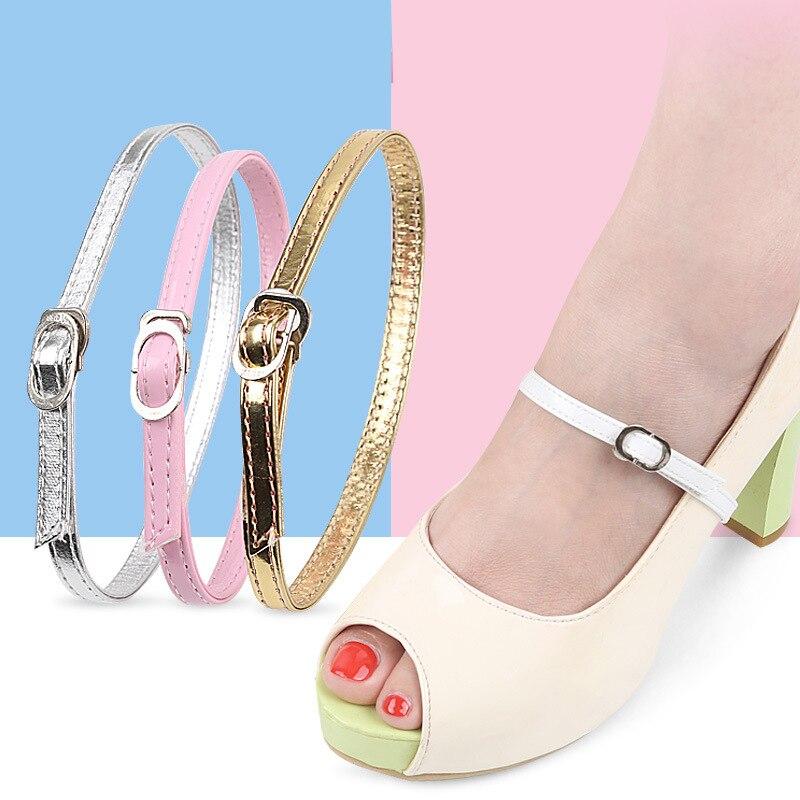 Nuevas de cuero Cordón de zapato tacones altos cordones sin corbata cordones para perezosos hebilla cordones de zapatos novedad cordones zapato femenino