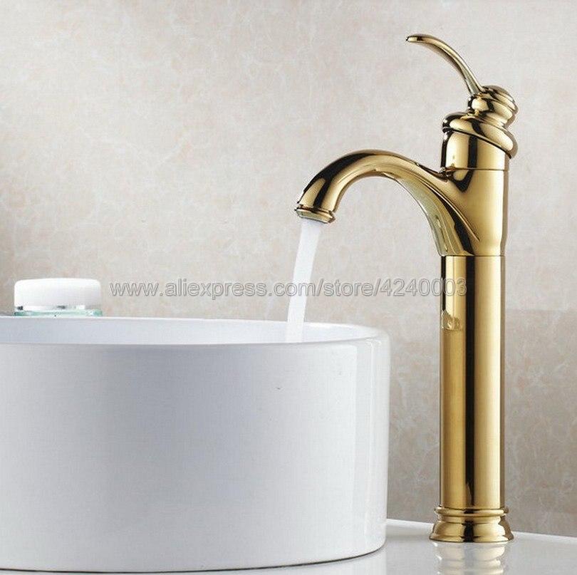 flg basin faucet for bathroom ceramic faucet cartridges automatic infrared sensor chrome cast cold hot bathroom sink faucet 8901 Polished Golden Bathroom Faucet Deck Mounted Basin Mixer Faucet Chrome Sink Tap Vanity Hot Cold Water Faucet Kgf059